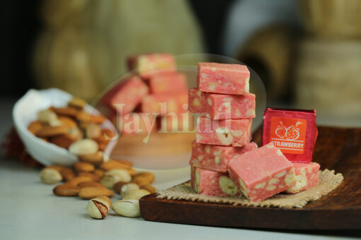 Only Jayhind Sweets Make Best Strawberry Bite In All Over World, We Deliver Strawberry Bite All Over The World. Buy Now On jayhindsweets.com